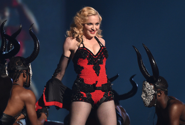 Madonna drew fire (again) over her pagan-looking performance at the Grammy Awards last month. / John Shearer/Invision/AP