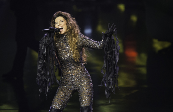 Shania Twain returned from an 11-year-hiatus at Caesar's Palace in Las Vegas in December. / Photo by Eric Jamison / Invision / AP