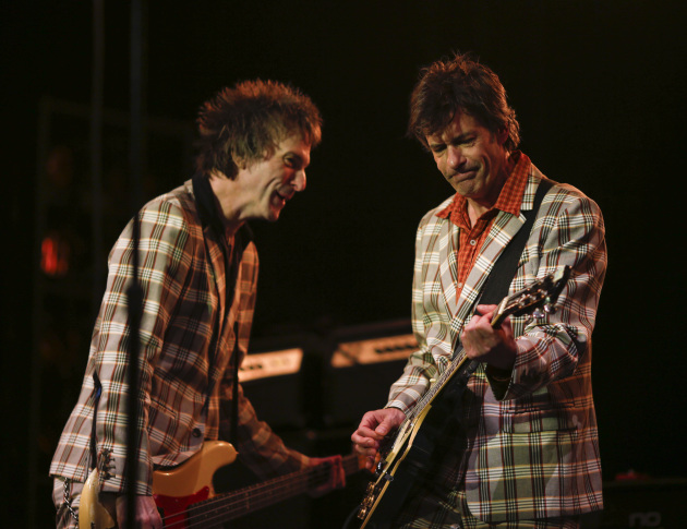 The Replacements' remaning co-founders Tommy Stinson, left, and Paul Westerberg will have new product to shill -- sorta new, anyway -- when they hit the road in April. / Jeff Wheeler, Star Tribune