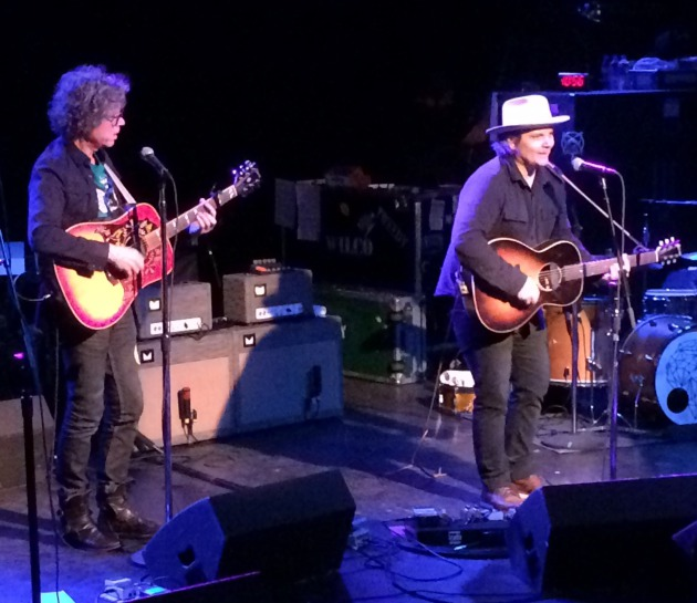 Gary Louris joined Tweedy near the end of the two-hour set.