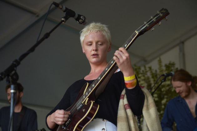 Laura Marling and her new guitar.