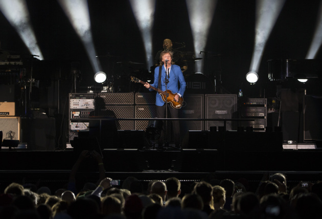 Paul McCartney is swinging through the Midwest again this summer to play Lollapalooza following his Target Field show last summer. / Brian Peterson, Star Tribune