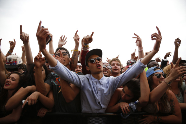 Fans got very into Nas during last year's Soundset, the first year the festival sold out. / Jeff Wheeler, Star Tribune