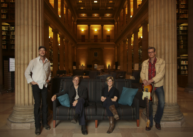 """The """"Real-Phonic"""" crew, from left: Erik Koskinen, Thom Middlebrook, Molly Maher and Paul Bergen."""
