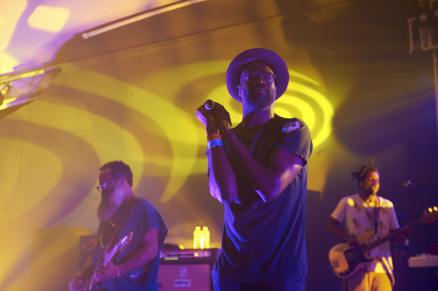 Kyp Malone, left, and Tunde Adebimpe kicked off TV on the Radio's 2015 tour schedule at Austin's South by Southwest festival in March. / Tony Nelson for Star Tribune