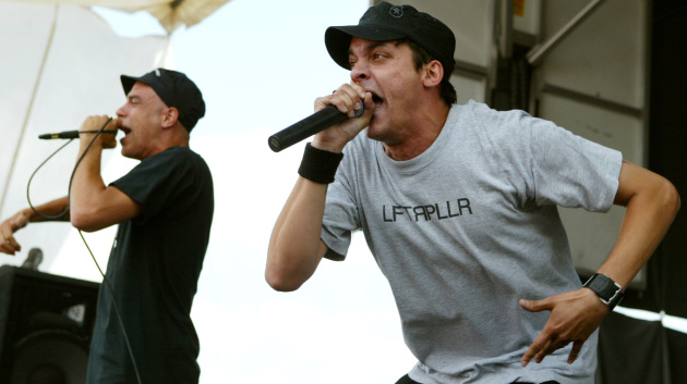 Crescent Moon and Slug on stage together when Atmosphere played Warped Tour in 2004. / Jerry Holt, Star Tribune