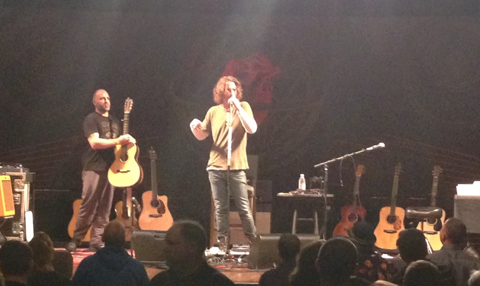 Chris Cornell plugs in for Monday's unplugged set at the State Theatre.