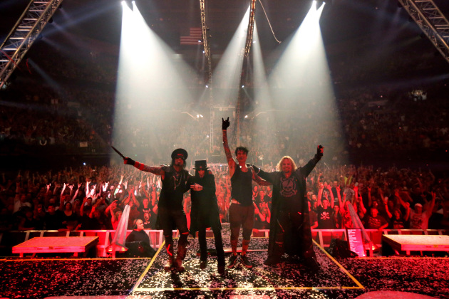 The four original members of Motley Crue took a bow in Eugene, Ore., in July. (Genaro Molina/Los Angeles Times/TNS)
