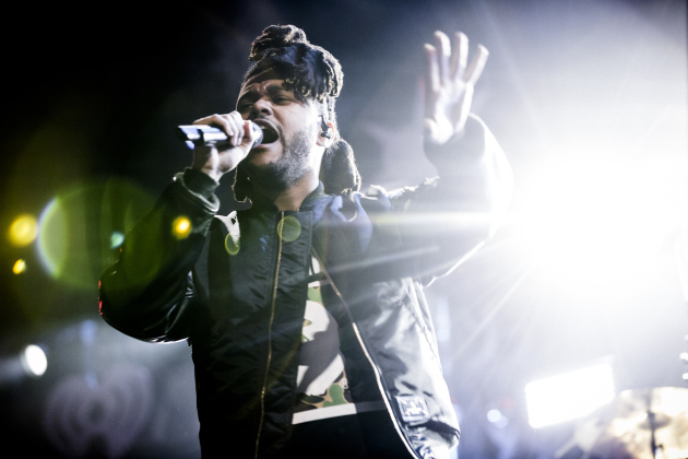 Canadian singer/rapper the Weeknd (Abel Tesfaye) last month at the iHeartRadio Z100 Jingle Ball in New York. / Chad Batka, New York Times