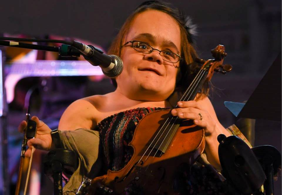 Gaelynn Lea is a classically trained violinist who has performed with fellow Duluthians Alan Sparhawk and Charlie Parr. Photo by Michael K. Anderson