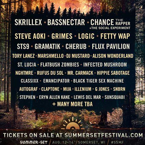 Skrillex leads Summer Set 2016 lineup with Bassnectar