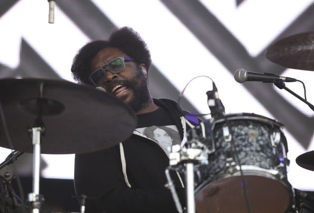 Questlove sported a Prince T-shirt behind the kit with the Roots' at the Soundset festival in May. / Jeff Wheeler, Star Tribune