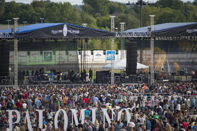 Festival Palomino's dueling stages will be erected on Hall's Island next month instead of Canterbury Park. / Aaron Lavinsky, Star Tribune