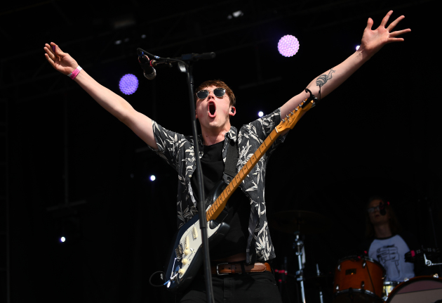 Jake Luppen of Hippo Campus was pumped to debut some new songs at Rock the Garden in June. / Aaron Lavinsky, Star Tribune