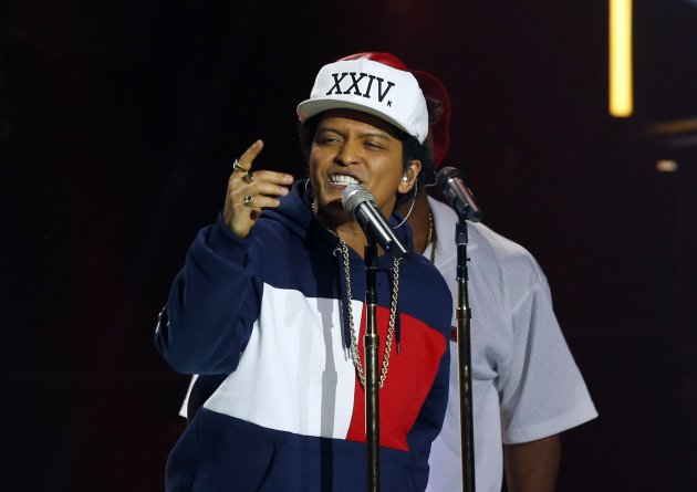 "Bruno Mars performed at the MTV European Music Awards earlier this month to tout his new album, ""24K Magic."" / (AP Photo/Peter Dejong)"