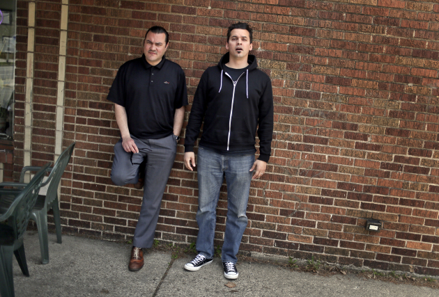 Atmosphere co-founders Ant (Anthony Davis), left, and Slug (Sean Daley) will rechristen the Palace Theatre on March 10. / David Joles, Star Tribune