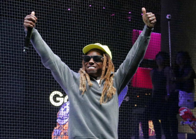 Lil Wayne appeared at the Electronic Entertainment Expo in Los Angeles in June. / AP Photo, Nick Ut