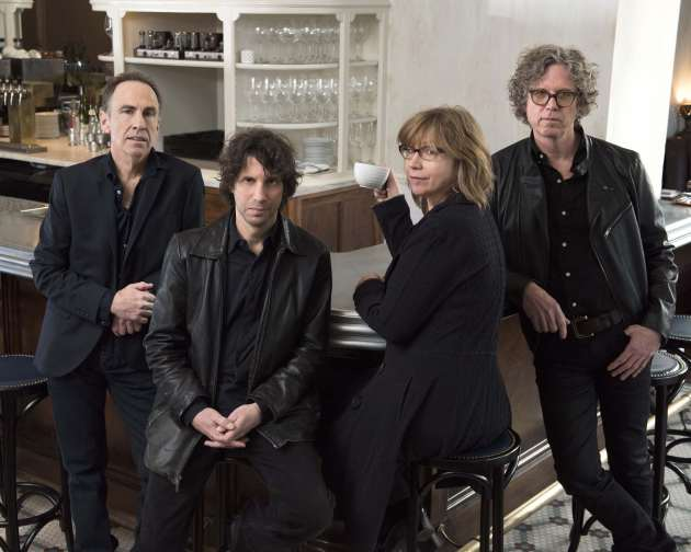 Tim O'Reagan, Marc Perlman, Karen Grotberg and Gary Louris recorded with Ray Davies in London last January. / Heidi Elhat