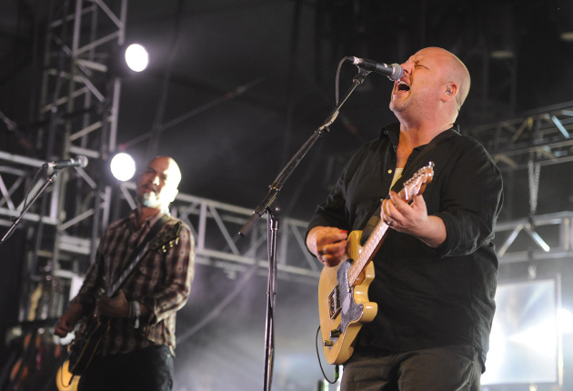 The Pixies' Frank Black, right, and Joey Santiago at Coachella in 2014. / Photo by Chris Pizzello, Invision/AP