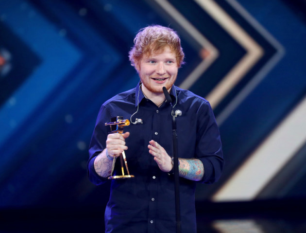 Ed Sheeran appeared last week at the Golden Camera Awards in Germany. / Christian Charisius/Pool Photo via AP