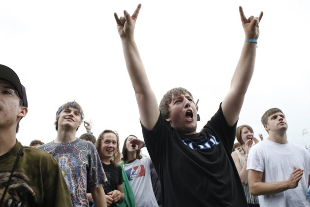 Kyle Kuehheman was psyched for Tool's headlining appearance at the short-lived River's Edge Festival on Harriet Island in 2012. / Star Tribune file