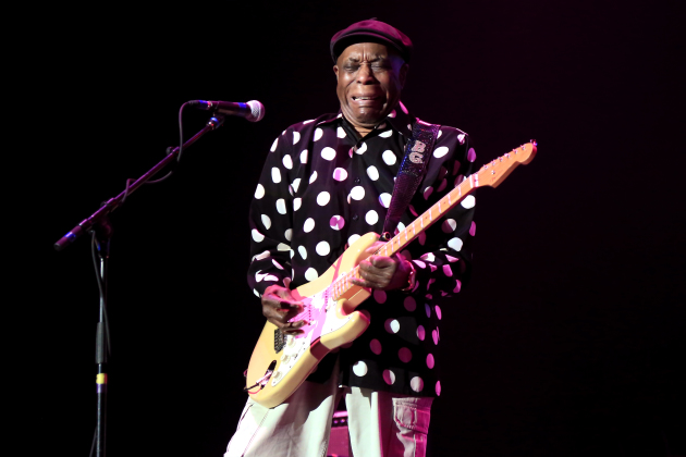 Buddy Guy emphasized the bluesy roots of Jimi Hendrix during Sunday's Experience Hendrix concert at Mystic Lake Casino Hotel / Adam Grim for Mystic Lake