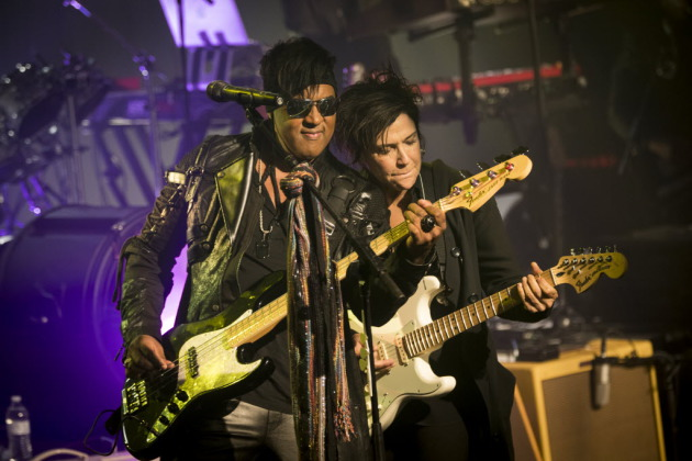 Mark Brown and Wendy Melvoin of the Revolution at First Avenue last September. / Renee Jones Schneider, Star Tribune