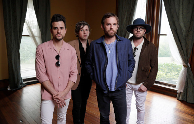 Kings of Leon, from left: Jared, Matthew, Caleb and Nathan Followill. / AP Photo/Mark Humphrey