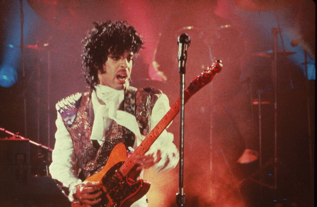 "Prince on screen in ""Purple Rain."" / AP Photo"