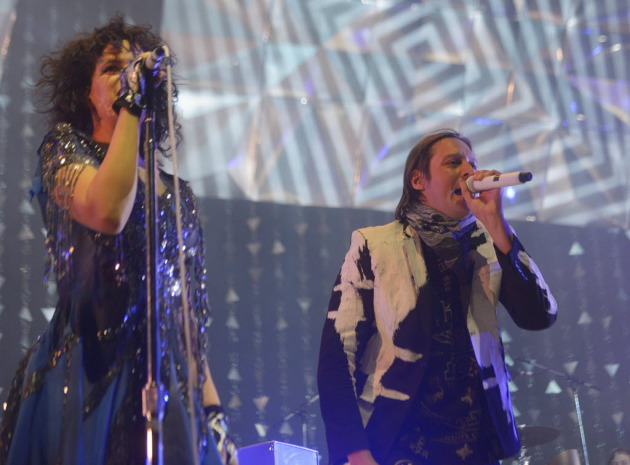 Régine Chassagne and Win Butler at Target Center in 2014. / Star Tribune file