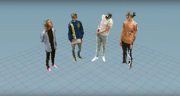 The members of Hippo Campus got lost in a virtual-reality world in their new video. / Courtesy Najeeb Tarazi / Creator Project