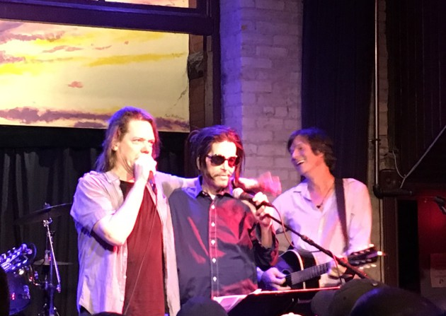 Grant Hart, middle, joined by Dave Pirner and Kraig Johnson at the Hook & Ladder.