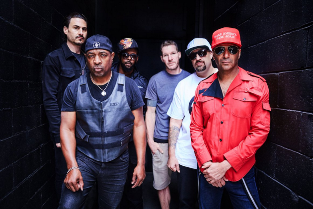 Prophets of Rage, from left: Brad Wilk, Chuck D, DJ Lord, Tim Commerford, B-Real, Tom Morello.