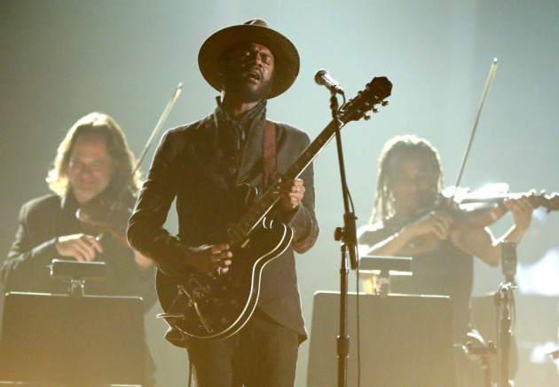 Gary Clark Jr. didn't need the string section that backed him at last year's Grammys to put on a royal show at the Palace Theatre. / Matt Sayles, Associated Press