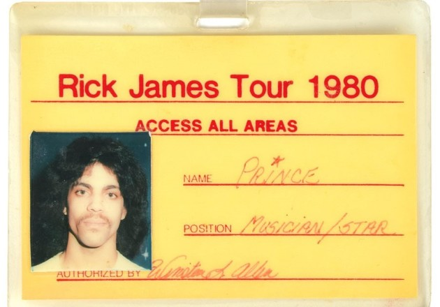 The backstage laminate from the 1980 tour with Rick James is part of RR Auction's new collection. / Courtesy RR Auction