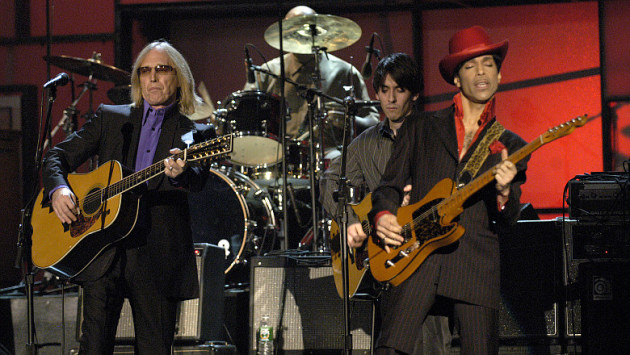 Tom Petty and Prince at the 2004 Rock and Roll Hall of Fame Ceremony. / Courtesy RRHOF, Kevin Mazur, Getty Images