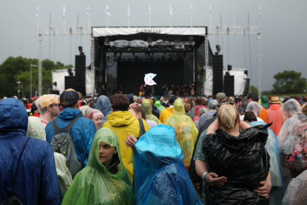 Last year's Eaux Claires festival was frequently dampened by rain after it moved to mid-June. / Anthony Souffle, Star Tribune