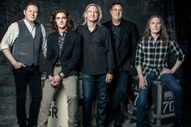 Meet the new Eagles, from left: Ol' What's His Name, Deacon Frey, Joe Walsh, Vince Gill and Timothy B. Schmit.