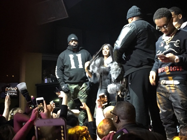 Cardi B in action (or lack thereof) at Privé nightclub.
