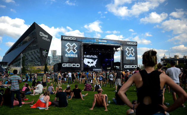 Fans settled in early when Atmosphere headlined one of the X Games concerts last summer in Commons Park. / Aaron Lavinsky, Star Tribune