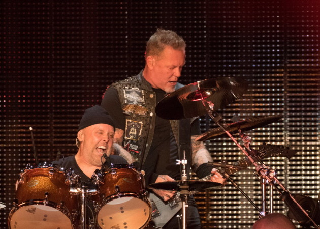 Metallica co-founders Lars Ulrich and James Hatfield helped inaugurate U.S. Bank Stadium in 2016. / Star Tribune file