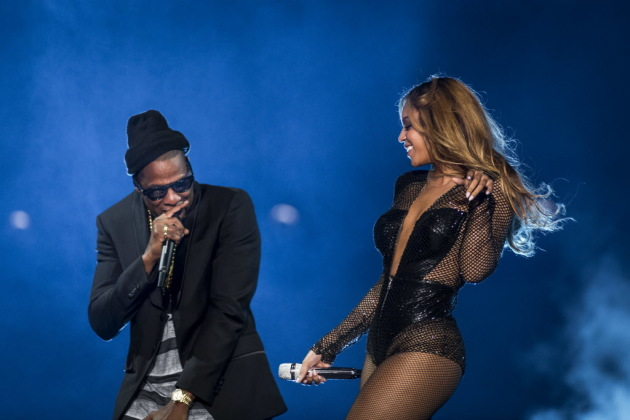 Jay-Z and Beyonce on their first On the Run Tour in 2014. / Chad Batka, New York Times