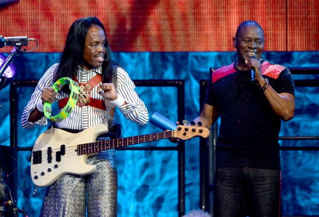 Verdine White, left, and Phillip Bailey played Xcel Center in 2016 with Earth, Wind & Fire following the death of bandleader Maurice White. / Aaron Lavinsky, Star Tribune