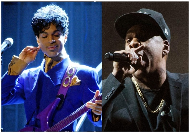 Prince in 2004 (Richard Hartog, Los Angeles Times) / Jay-Z (AP Photo)