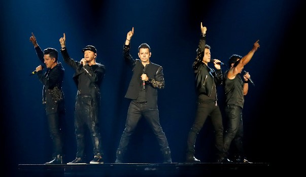 New Kids on the Block pointed to their lucky revival stars last summer at Xcel Center. / Carlos Gonzalez, Star Tribune