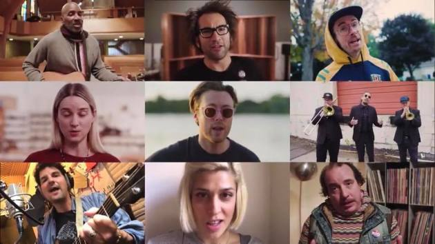 "The ""We All Do Better"" cast includes (top row from left) John Richardson, Justin Courtney Pierre, Sean Anonymous, (middle row) Maggie Morrison, Jeremy Messersmith, Nooky Jones, (bottom), Craig Minowa, Dessa, Sean Tillmann"