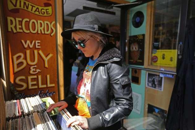 Tiffany Beamer shopped at Hymie's Records on Record Store Day in April. / Ellen Schmidt, Star Tribune