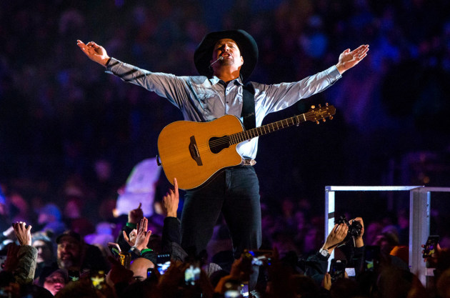 Garth Brooks' October concert at Notre Dame Stadium was turned into a TV special for CBS. / Robert Franklin, South Bend Tribune/AP