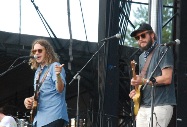 Eaux Claires chief guru Justin Vernon, right, was one of about 800 musicians to perform with Phil Cook, left, in the festival's first four years. / Star Tribune file