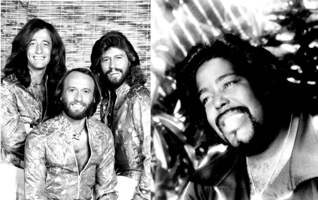 Barry Gibb and the Bee Gees, left, is back on the FM dial in the Twin Cities with Barry White, right, via Love 105.